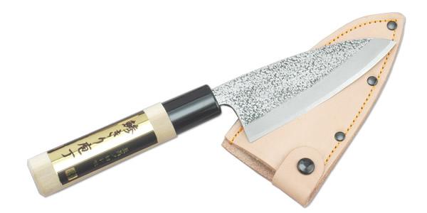 小出刃 皮ケース付 105mm